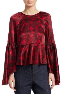 Cinq à Sept Avalon Floral Silk Top