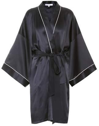 Olivia von Halle Mimi short silk robe