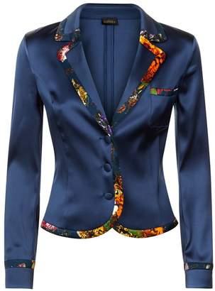 La Perla Flowerland Bi-Stretch Silk Short Jacket