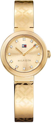 Tommy Hilfiger Women's Sophisticated Sport Gold-Tone Stainless Steel Bangle Bracelet Watch 28mm 1781720 $145 thestylecure.com