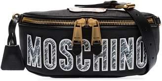 Moschino logo embellished cross body bag