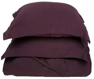 Home City Inc Superior 400 Thread Count Premium Combed Cotton Solid Duvet Set - Twin Bedding