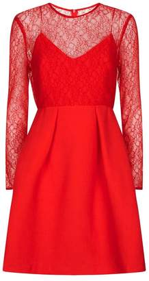 Sandro Lace Top Skater Dress