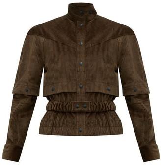 Symonds Pearmain - Press Stud Sleeve Cotton Corduroy Jacket - Womens - Brown