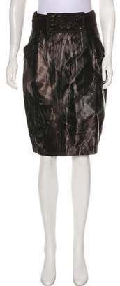 Hanii Y Striped Knee-Length Skirt
