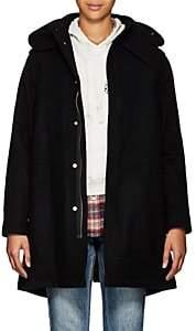 VIS A VIS Women's Faux-Fur-Lined Wool-Blend Parka-Black