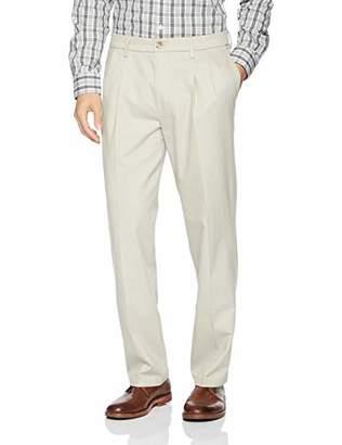 Dockers Classic Fit Signature Khaki Lux Cotton Stretch Pants -Pleated D3