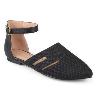 Journee Collection Lindon Womens Ballet Flats Buckle Pointed Toe