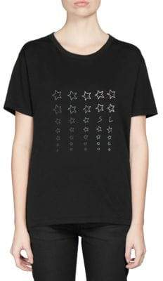 Saint Laurent Cotton Star Print T-Shirt