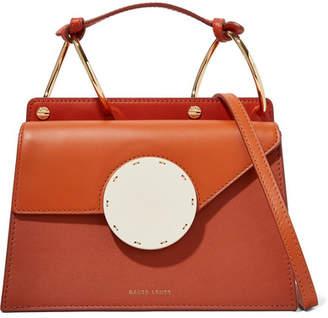 Danse Lente Phoebe Bis Color-block Leather Shoulder Bag - Orange