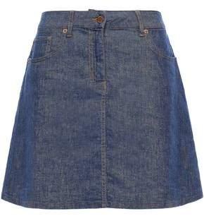 Love Moschino Flared Denim Mini Skirt
