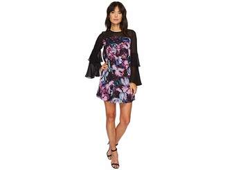 CeCe Camille Tiered Sleeve Floral Dress Women's Dress