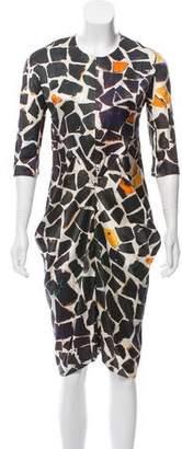 Zero Maria Cornejo Geometric Patterned Midi Dress