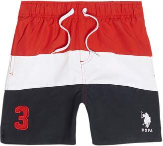 River Island Boys red U.S. Polo Assn. swim shorts