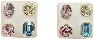 One Kings Lane Vintage Kenneth Lane Pastel Rhinestone Earrings