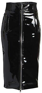 Marc Jacobs Women's The Vinyl Pencil Skirt - Size 0