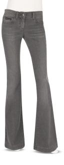 Grey Wash Flare Leg