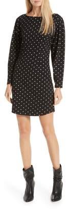 Rebecca Taylor Polka Dot Jersey Shift Dress