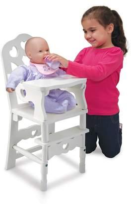 Melissa & Doug Wooden Doll Highchair