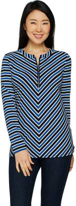Susan Graver Weekend Striped Cotton Modal Top
