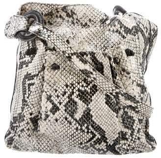 Carlos Falchi Embossed Shoulder Bag