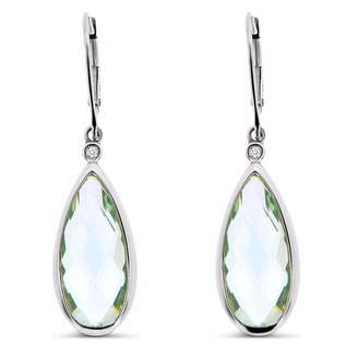 Cosanuova - Tear Drop Earrings 14k White Gold