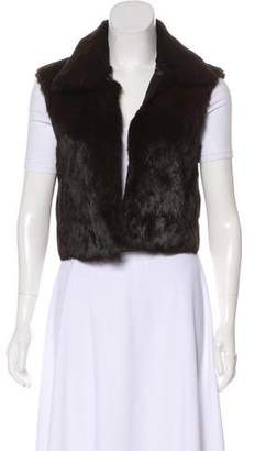 Theory Collared Fur Vest