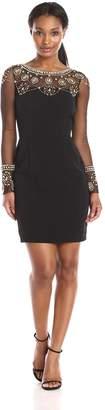 Minuet Women's Embellished Long Sleeve Bodycon Dress