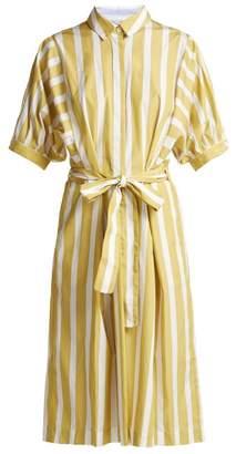 Thierry Colson Iolanda Striped Cotton Dress - Womens - Yellow Multi