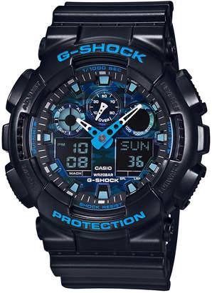 G-Shock Men's Analog-Digital Black Resin Bracelet Watch 55x51mm GA100CB-1A $120 thestylecure.com