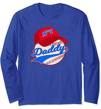 Baseball Daddy Son Daughter Father Long Sleeve T-Shirt