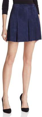 Alice + Olivia Lee Suede Mini Skirt