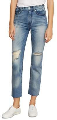 Habitual Pace Slit Hem Skinny Jeans