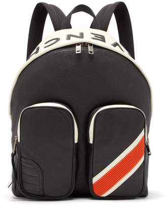 Givenchy Mc3 Leather Backpack - Mens - Black Orange