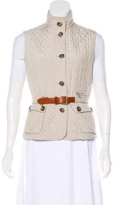 Max Mara Weekend Quilted Belted Vest