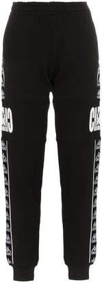 Charm's x Kappa logo printed and side panel cotton track pants