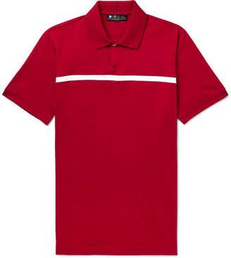 Loro Piana 28matches Striped Jersey Golf Polo Shirt