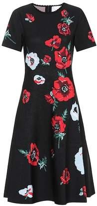 Carolina Herrera Floral crêpe dress