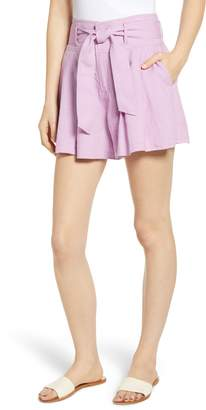 BP High Waist Linen Blend Shorts