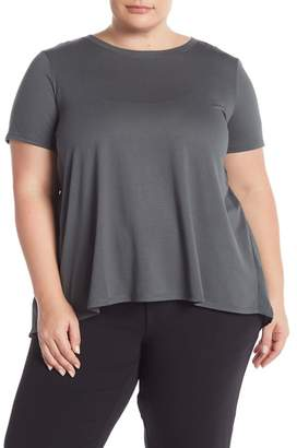 14th & Union Shirred Flounce Back T-Shirt (Plus Size)