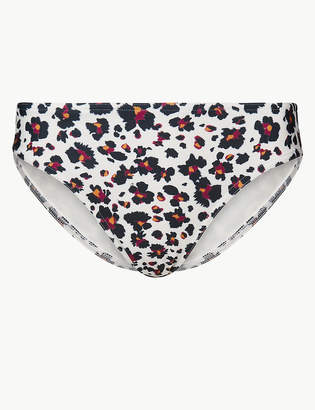Marks and Spencer Animal Print High Leg Bikini Bottoms