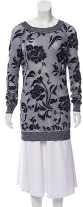 Ermanno Scervino Floral Open-Knit Sweater