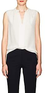 Derek Lam Women's Kara Silk Blouse - White