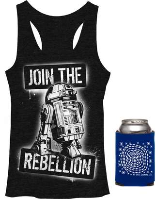 Fifth Sun Star Wars Join The Rebellion Womens' Tank Top & Can Holder - Multi-Pack