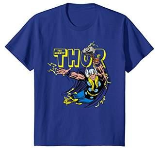 Marvel Thor Classic Retro Comic Graphic T-Shirt