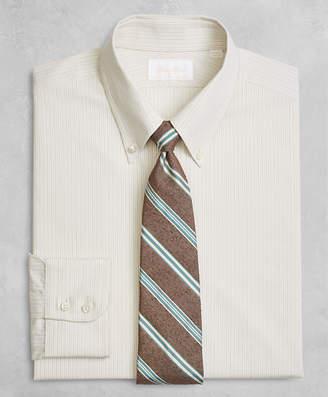 Brooks Brothers Golden Fleece Regent Fitted Dress Shirt, Button-Down Collar Alternating Dot Stripe