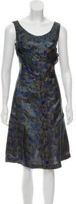 Maison Margiela Sleeveless Floral Print Dress