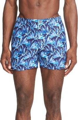 Men's Onia Calder Paradise Bird Swim Trunks $185 thestylecure.com