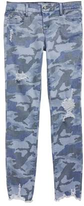 Tractr Camo Skinny Twill Pants