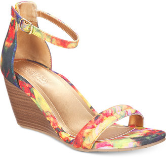 Kenneth Cole Reaction Women's Cake Icing Wedge Sandals $79 thestylecure.com